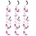 Decoration Bachelorette Martini and Heels Danglers 